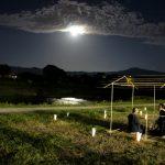 中秋の名月 満月茶会 鴨川 2015年9月