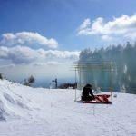 御在所岳山頂付近 標高1212m氷点下7度の茶会 2016年2月