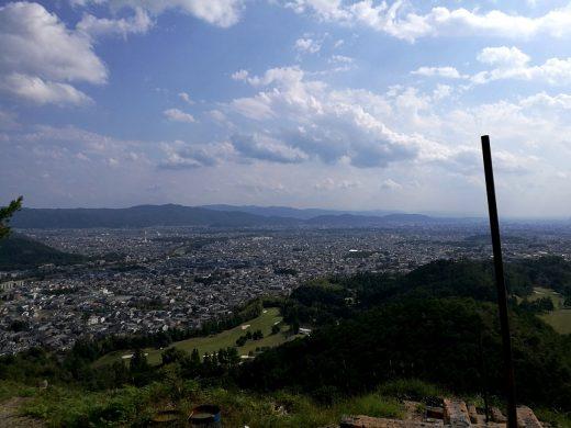 船山からの京都市内