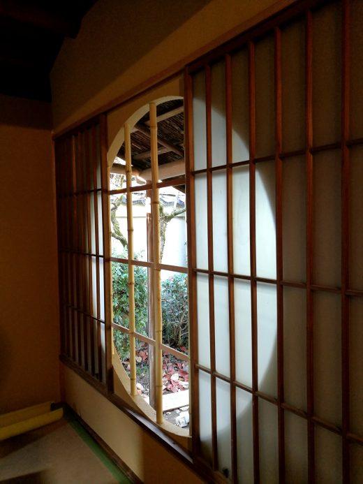 上賀茂社家改修工事 円窓