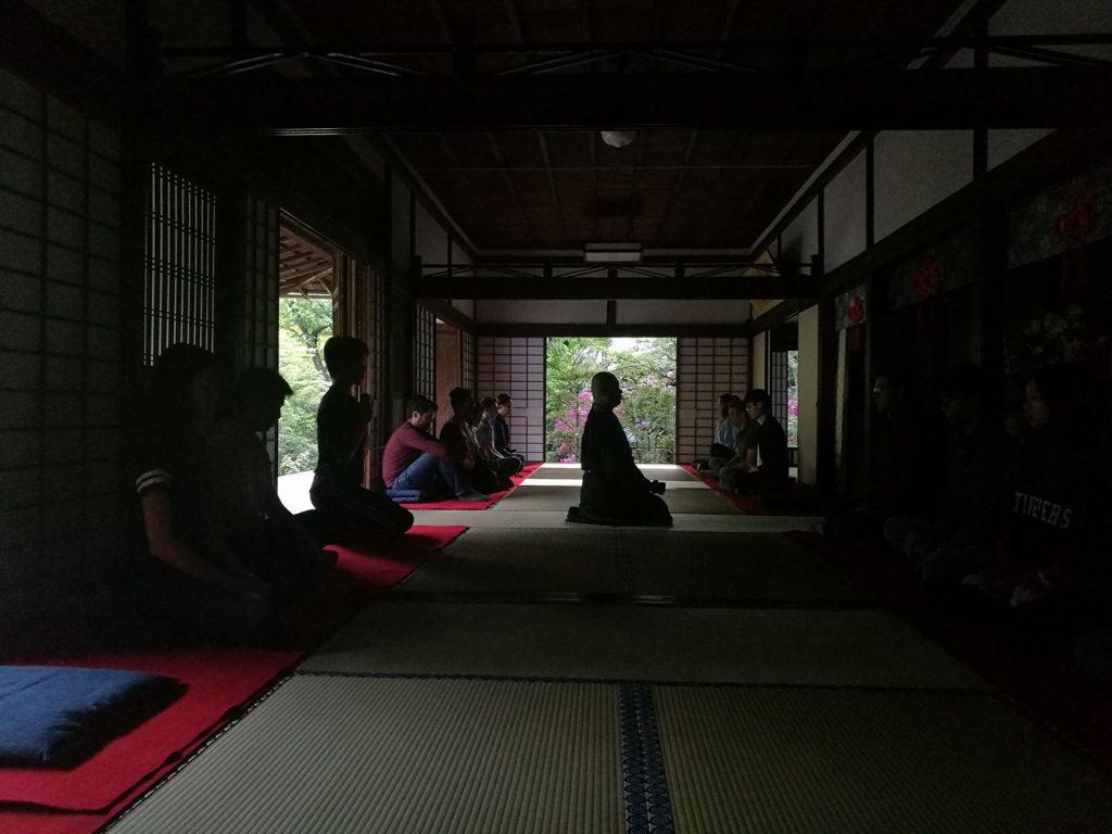 大徳寺大慈院での座禅体験