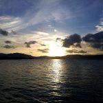 晩秋の琵琶湖の夕暮れ 滋賀県 2018