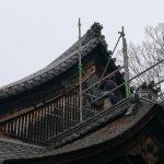 懸魚修復工事 醍醐寺理性院 取付
