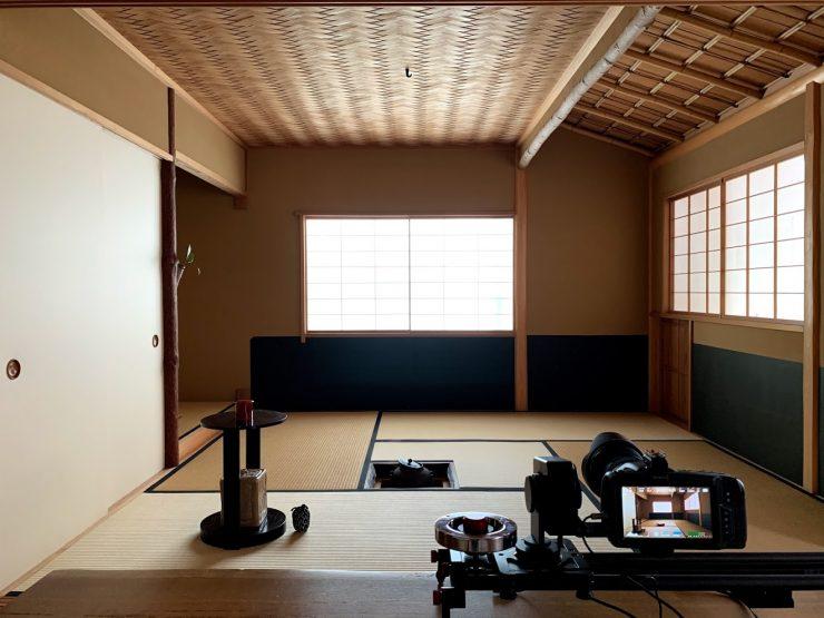 山中工務店茶室のプロモーション映像撮影