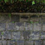 京都祇園 石塀小路の石垣
