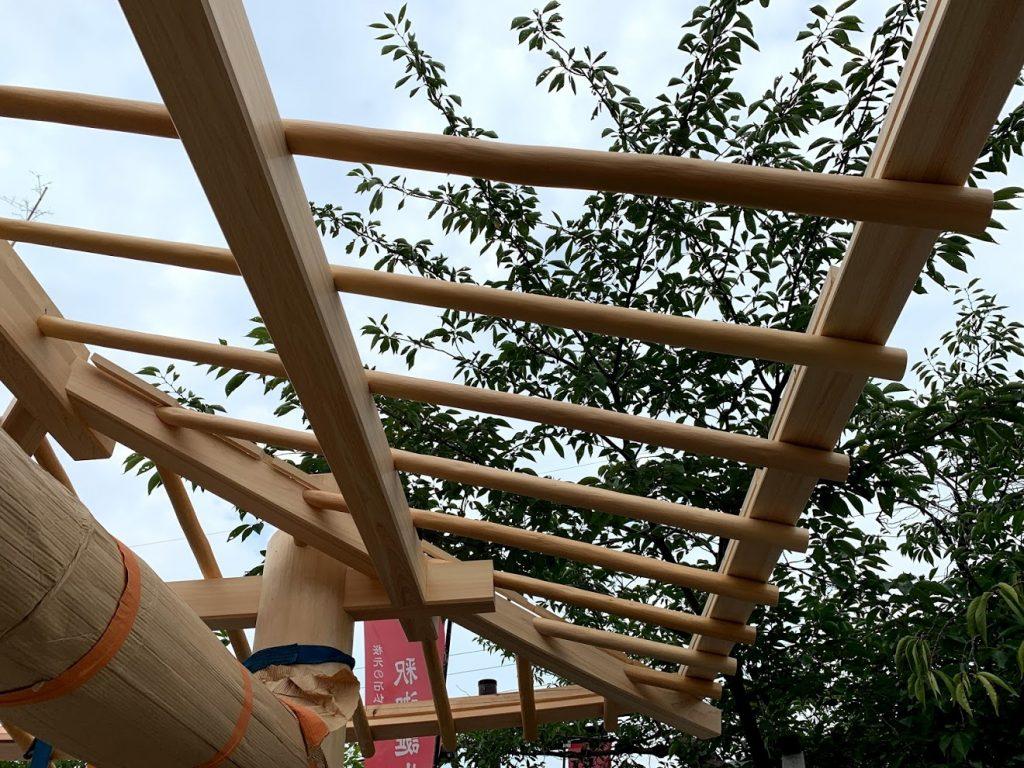 京都嵐山 西光院 山門新築工事 垂木