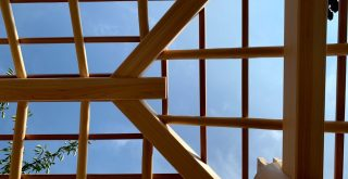 京都嵐山 西光院 山門新築工事 屋根小舞