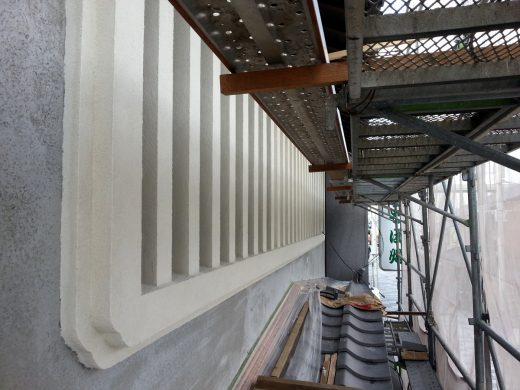 虫籠窓 (むしこまど)左官工事