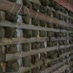 醍醐寺理性院狩野探幽壁画修繕工事 荒壁左官