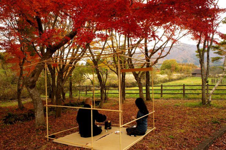 秋の蒜山高原茶会