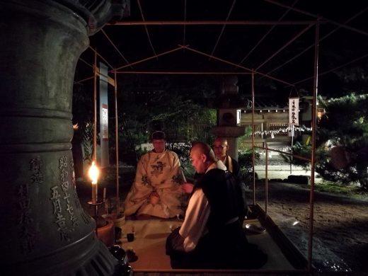 神事の後の直会茶会 2017年8月 今宮神社・織姫祭