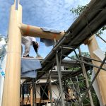 京都嵐山西光院山門新築工事 建て方